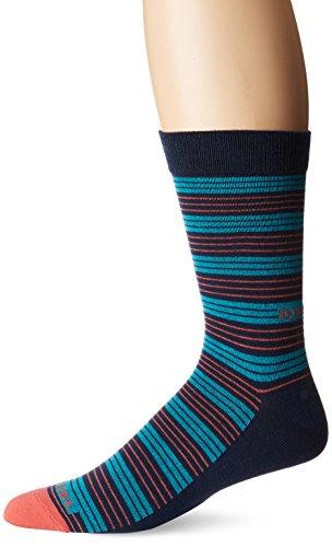 - Diesel Men's Ray Stripe Socks, Turq/Navy, Small