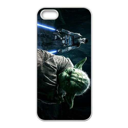 Star Wars The Force Unleashed 2 8 coque iPhone 4 4s cellulaire cas coque de téléphone cas blanche couverture de téléphone portable EEECBCAAN00233