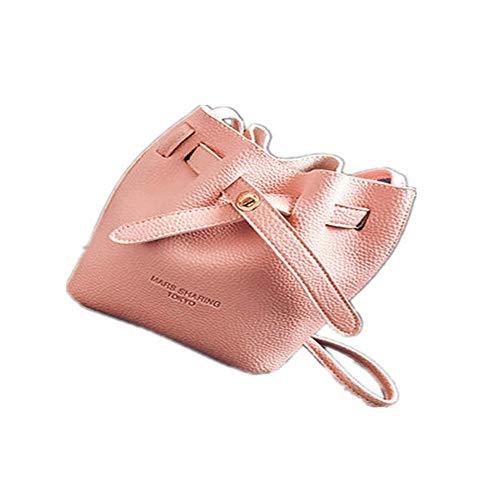 Imitación Moda Bloqueo Taihang Cubo Ocasional Bolsa Color Las Crossbody Cuero Mujeres De Hombro Pink Hebilla WnXHBPqIX
