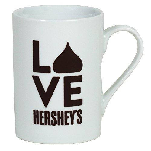 - LOVE Hershey's Stacked Mug, White, 12oz
