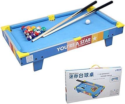 Zgifts Mini Mesa Pool Set-70cm Azul Billar portátil Juego Mesa de ...