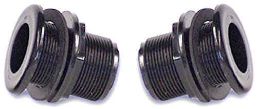 (2 Pack) Lifegard Aquatics 1-Inch Double Threaded Bulkheads