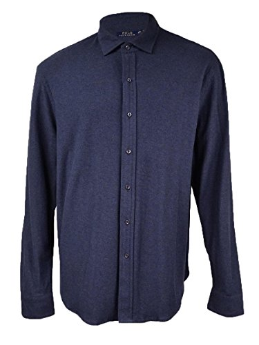 Tag Jacquard Polo (Polo Ralph Lauren Mens Jacquard Long Sleeves Button-Down Shirt Navy S)