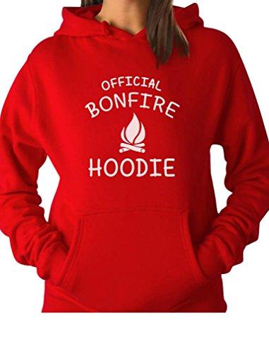 TeeStars - Funny Camping Gift Idea - Official Bonfire Women Hoodie Medium Red
