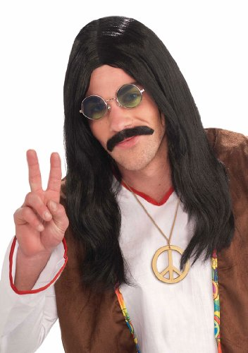 Hippie Dude Black Wig (Hippie Dress Up)