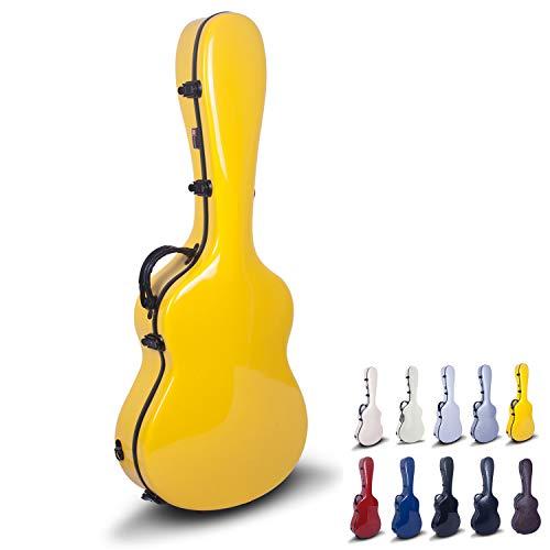 Crossrock CRF1000CBK Classical Guitar Hardshell Case, Fiberglass, Black