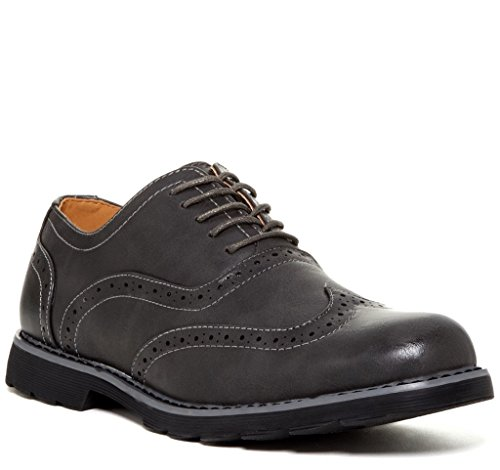 Giraldi travus Mens Fashion Wingtip Oxfords Grey 3XaDkca