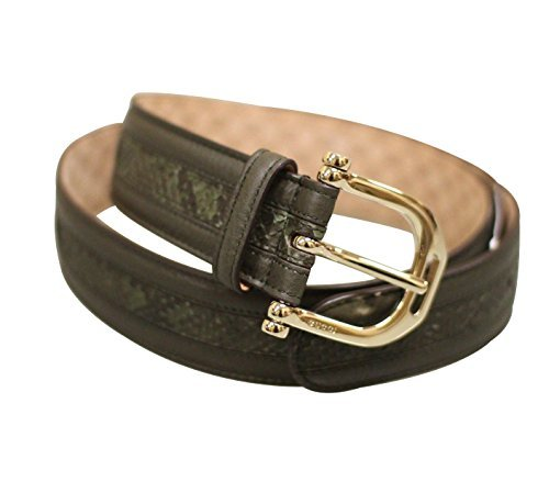Gucci Women's Green Python Leather Metal Buckle Belt 245885 3216 (85 / 34) by Gucci