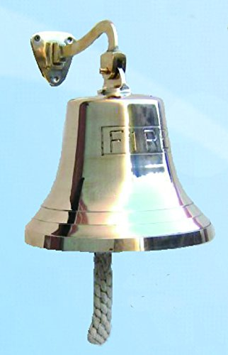 8'' Solid Polished Brass FIRE Bell