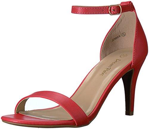 DREAM PAIRS Women's Jenner Dress Pump, Red Polyurethane, 9 M US (Red Polyurethane)