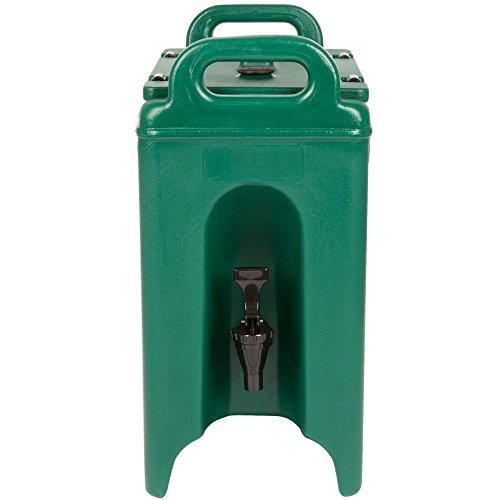 Cambro 250LCD519 Camtainer 2.5 Gallon Green Insulated Beverage Dispenser