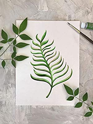 SL-054 Tropical Banana Leaf Painting Airbrush Stencil GSS Designs Palm Frond Wall Art Stencil - Reusable Template for Wood Canvas Furniture Wall Home Decor 12x16inch