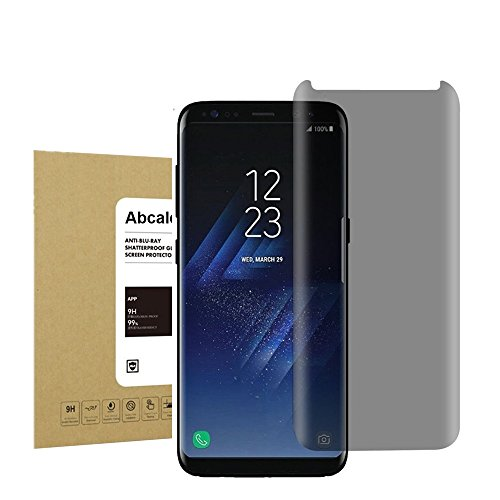 For Galaxy S8 Plus Privacy Anti-Spy Screen Protector, Abcalet [Bubble-Free][Anti-Scratch] Premium Tempered Glass Screen Protector for Samsung Galaxy S8 Plus Black