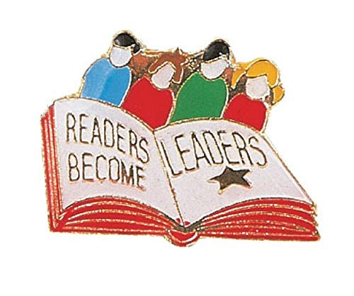 Pack of 25 Readers Become Leaders Lapel Pins