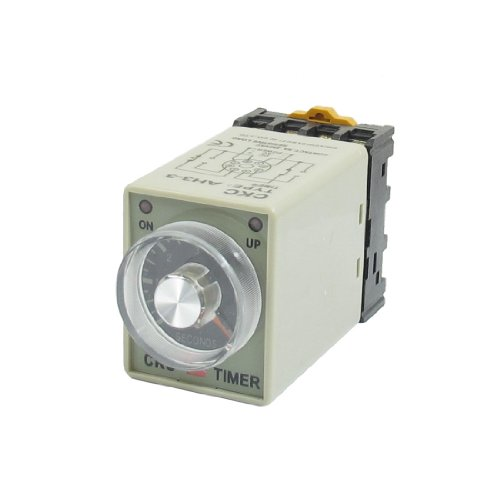 uxcell-ah3-3-12vdc-0-6-seconds-timer-power-on-delay-time-relay-dpdt-8-pin-w-base