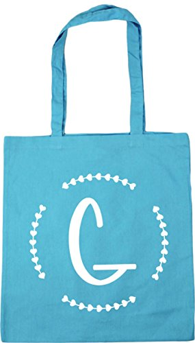 Gym litres Beach Blue Shopping Bag 10 Initial G 42cm HippoWarehouse x38cm Surf Tote qwRIZO