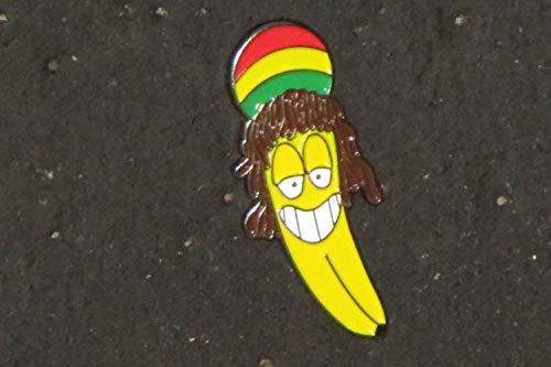 Rasta Rastafarian Banana Dread Dreadloch Medical Marijuana Hippie Dreads Festival Enamel Lapel Hat Pin ()