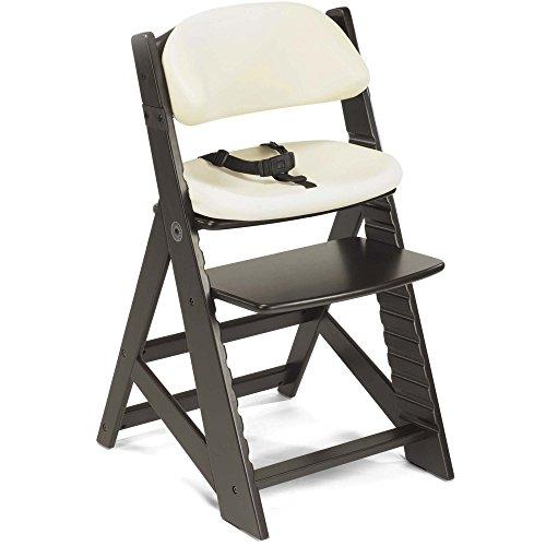 Keekaroo Height Right Kids Chair Espresso with Vanilla Comfort Cushions, Espresso/Vanilla