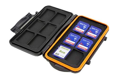 Hunt Perfect Compact Trail Camera SD Card Protective Case, Water Resistant, Shock Resistant, Protector Box Storage, Holder for 12 SD Cards, Tough Portable Box