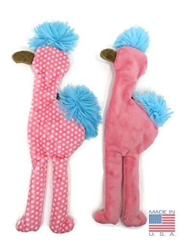 West Paw Large Flat Mingo the Flamingo Unstuffed Squeak Toy