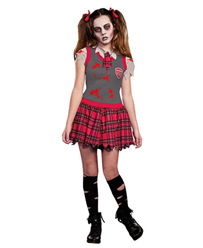 Dead Person Costume (Dreamgirl 9588 Dead People Tween Girls Costume - X-Large - Multicolor)
