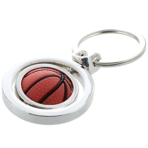 TOOGOO(R) Porte Cle Clef Keyring Basketball En Metal 75x40mm Decoration