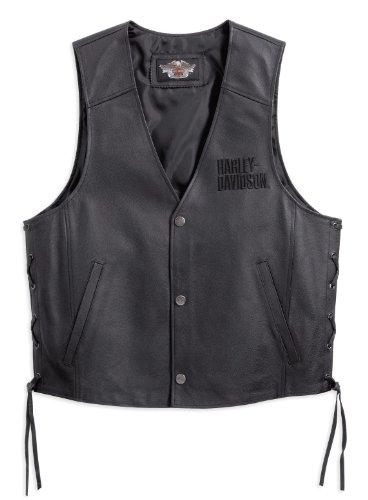 Harley-Davidson Tradition Leather Vest 98007-11VM Herren Outerwear