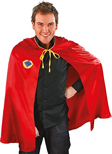 Adults Halloween Fancy Dress Club Party Costume Top Superhero Red Cape Only -