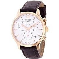 Tissot Men's T0636173603700 Tradition Analog Display Swiss Quartz Brown Watch