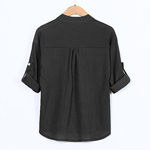 Tops Shirt M~5XL Chemisier Shirt Longues Manches Bouton Sweat A Grande Blouse Col Femme T Tunique Tee Sweatshirt Casual Taille Chic Haut Kangrunmys Chemise Haute avec Mao E TWndx4Z4w