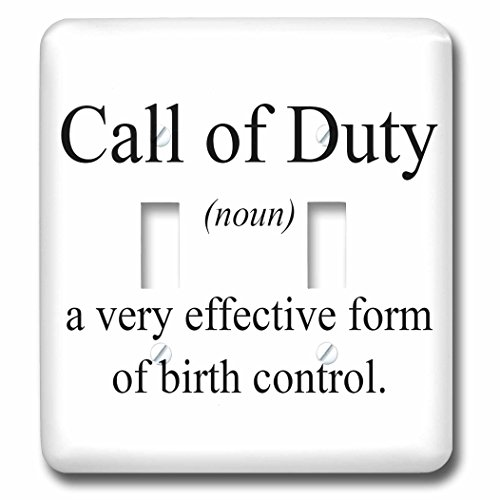3dRose lsp_173336_2 Call of Duty Noun a Very Effective Form of Birth Control Light Switch Cover by 3dRose