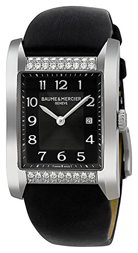 Baume and Mercier Hampton Milleis Opaline Black Dial Ladies Watch MOA10024