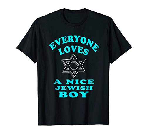Mens FUNNY EVERYONE LOVES A NICE JEWISH BOY T-SHIRT Hanukkah Gift XL -