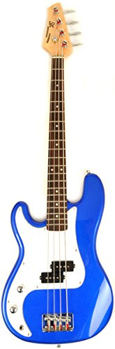 SX Ursa 1 JR EB Blue Left Handed 3/4 Size Bass Guitar Package w/Free Amp Bag, Strap and Instructional DVD