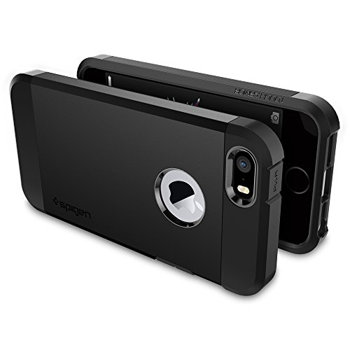 Spigen Tough Armor iPhone 5S / 5 Case with Extreme Heavy Duty Protection and Air Cushion Technology for iPhone 5S / iPhone 5 - SF Smooth Black by Spigen (Image #7)