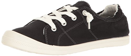 (Madden Girl Women's Baailey Fashion Sneaker Black Fabric 8.5 M US)