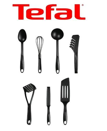 tfal bienvenue lot de 7 ustensiles de cuisine plastique noir amazonfr cuisine maison