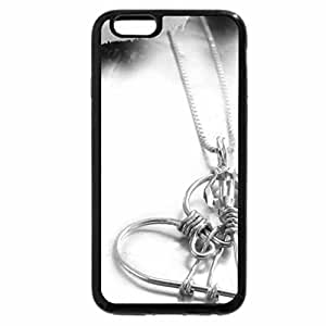 iPhone 6S Case, iPhone 6 Case (Black & White) - Delicate HEART