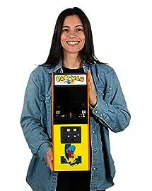 Quarter Arcades Official PAC-Man 1/4 (17 Inches Tall) Mini Arcade Cabinet by Numskull – Playable Replica Retro Arcade Game Machine – Micro Retro Console