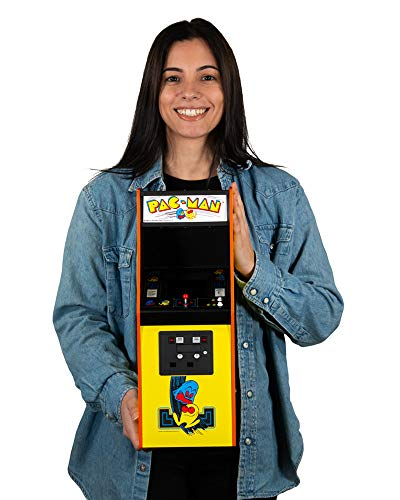 Official PAC-MAN 1/4 Sized (17 Inches Tall) Mini Arcade Cabinet - Quarter Arcades by Numskull - Playable Replica Retro Arcade Game Machine - Micro Retro Console