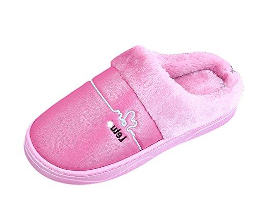 Insun Womens Warme Winterhuis Slippers Indoor Outdoor Rose Rood
