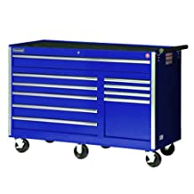 International VRB-5610BU 56-Inch 10 Drawer Blue Tool Cabinet with Heavy Duty Ball Bearing Slides