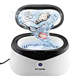 ultrasonic cleaner timer - Ultrasonic Jewelry Cleaner Machine, Sonic Wave Eyeglass Cleaning Machine, Professional Jewelry Cleaner with 5 Minutes Timer for Jewelry, Eyeglass, Watches, Airbrush, Rings, Razors, Dentures, Parts