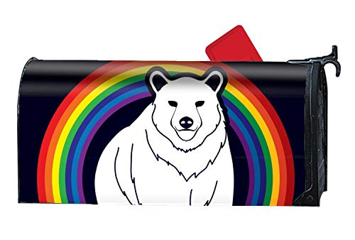 - FANMIL Big Bear Standing Magnetic Mailbox Cover
