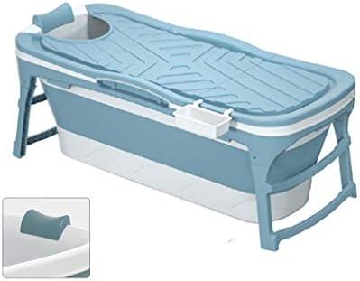 お風呂用バケツ大人用折りたたみ式バスタブ家庭用バスタブ厚めのプラスチック製バスタブ全身子供用バスタブ折りたたみ式の小さなバスタブ収納が簡単 浴室用設備 (Color : Blue, Size : 128*60*58cm)