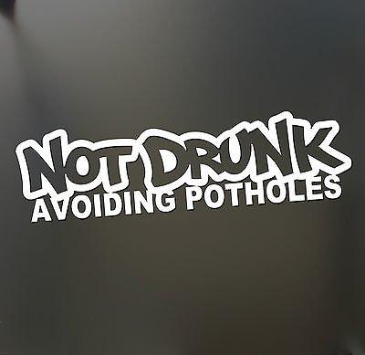 Diy Dobby Costume (Not Drunk Avoiding Potholes sticker Funny JDM Drift Honda lowered car window)