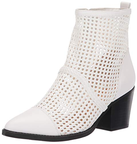 Sam Edelman Women's Elita Ankle Boot White Leather 7.5 M US