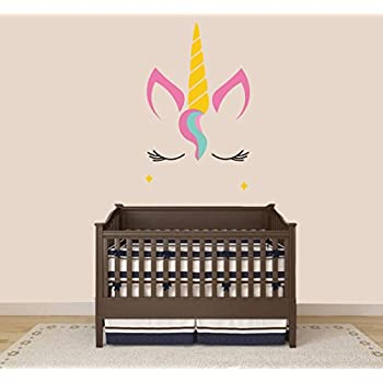 Unicorn Animal Series Baby Girl Nursery Wall Decal For Baby Room Decorations Mural Wall Decal