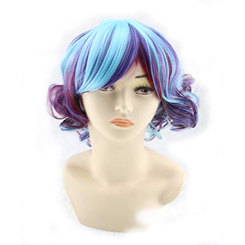 Wig High Temperature Silk Lady Color Short Curly Hair Europe And America Nightclub Stage Show Wig Anime ()