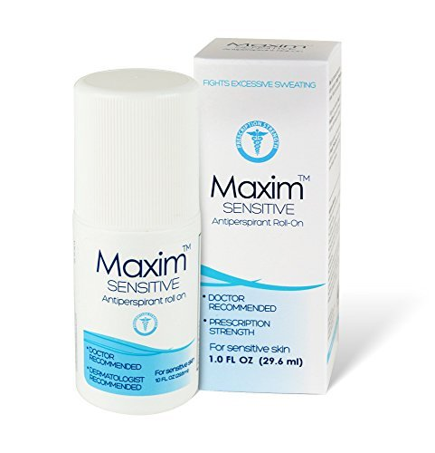 Maxim Sensitive Clinical Strength Antiperspirant & Deodorant for Women and Men | Treat Hyperhidrosis and Excessive Sweating | Up to 7 Days Protection (1-Pack)